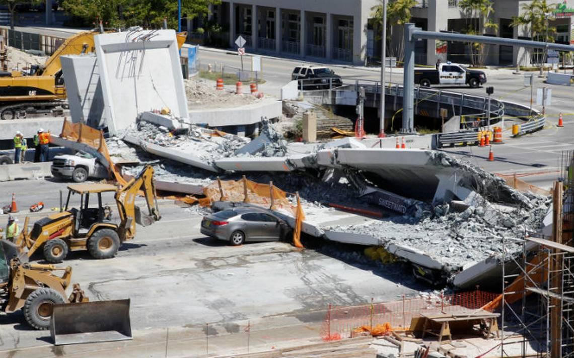 Rescatan último cuerpo de víctima tras colapso de puente en Florida