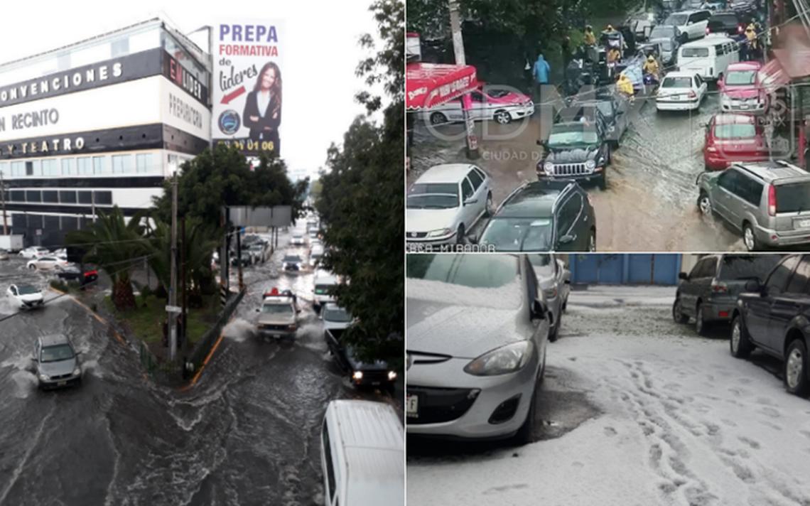 [Videos] Granizo provoca inundaciones en Topilejo y Azcapotzalco