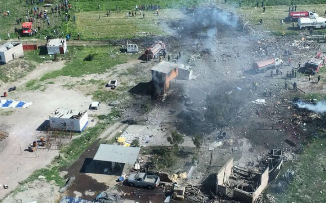 Suspenden venta de pirotecnia en Tultepec tras explosiones