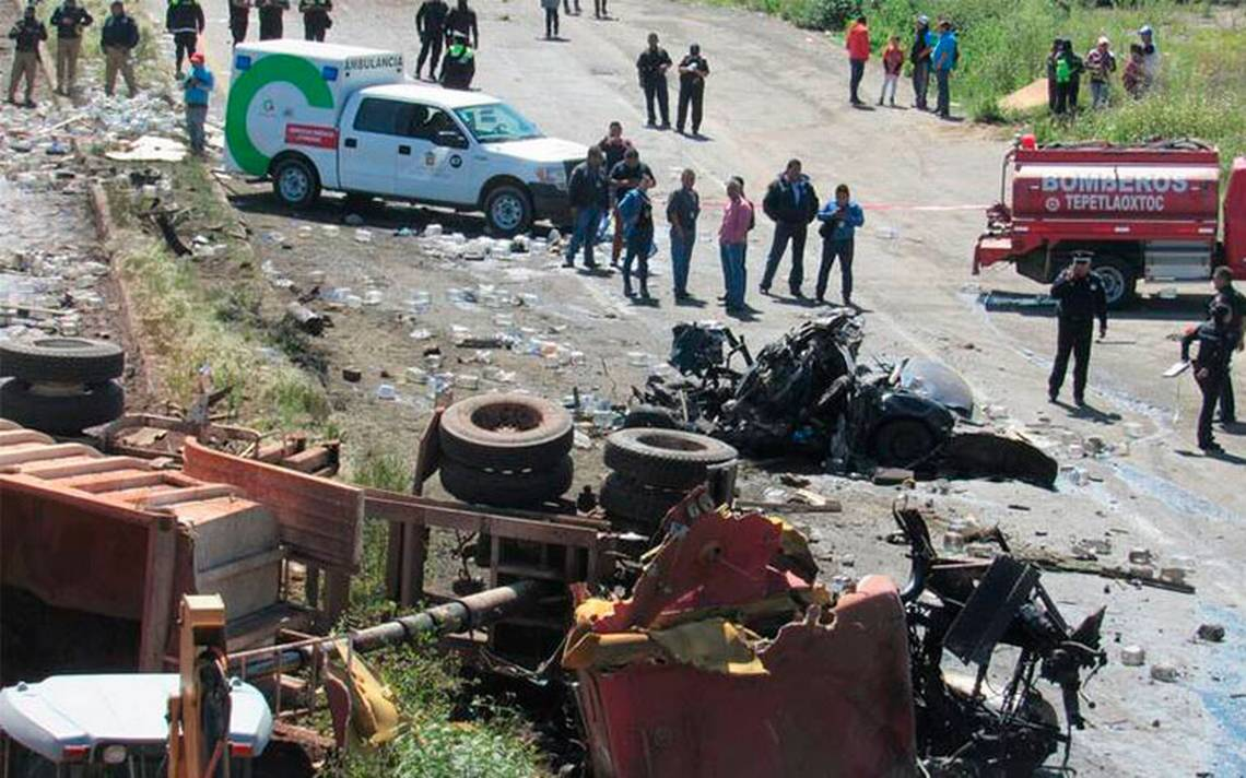 Denuncian incremento de accidentes en la Texcoco-Calpulalpan por el NAIM