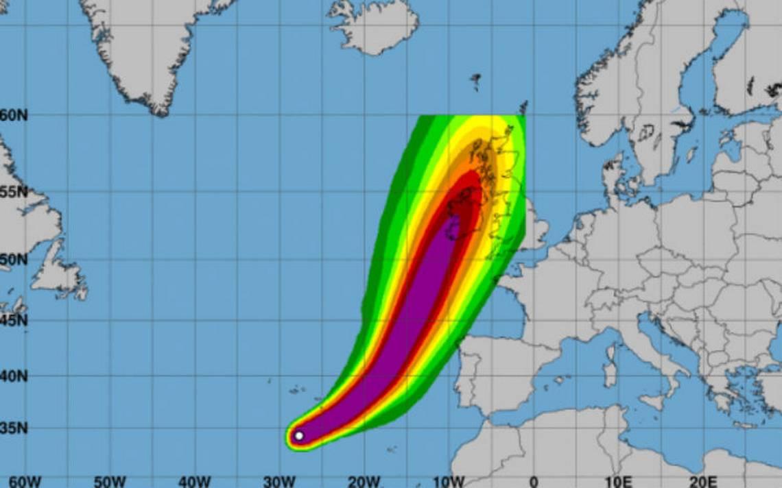 Huracán Ofelia categoría 2, amenaza a Irlanda y Reino Unido