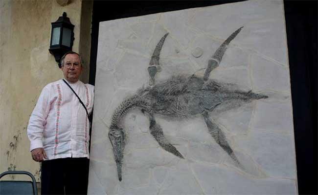 Edil en Nuevo León bautiza a dinosaurio; conoce a Mauriciosarus fernandezi