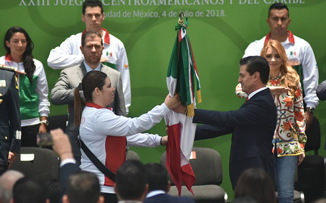 Peña Nieto abandera a mexicanos que participarán en Juegos Centroamericanos de Barranquilla 2018