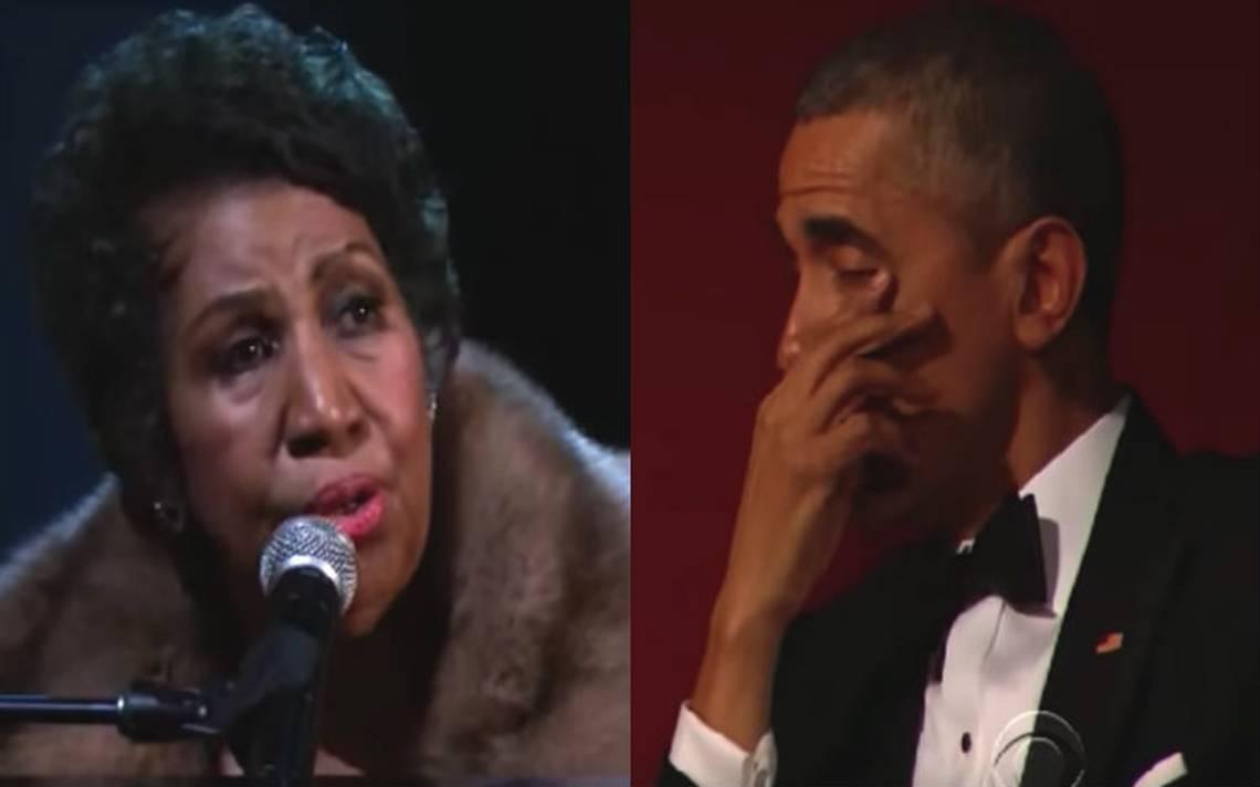 [Video] El día en que Aretha Franklin hizo llorar a Obama
