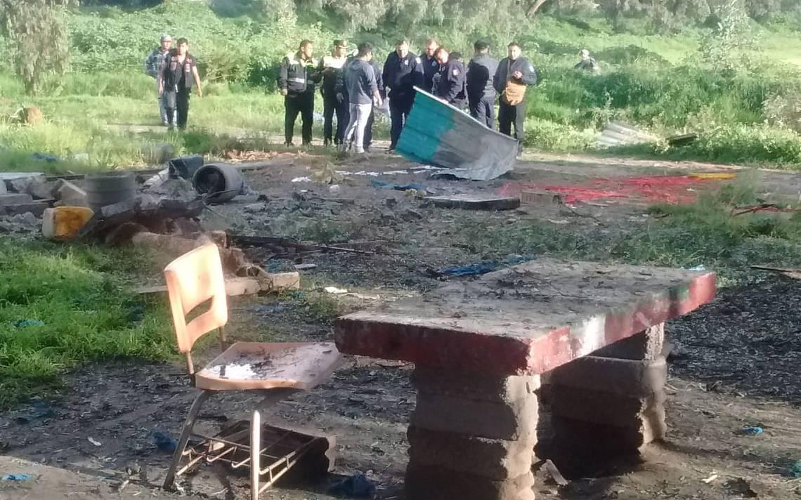 Explosión de polvorín en Zumpango deja un muerto