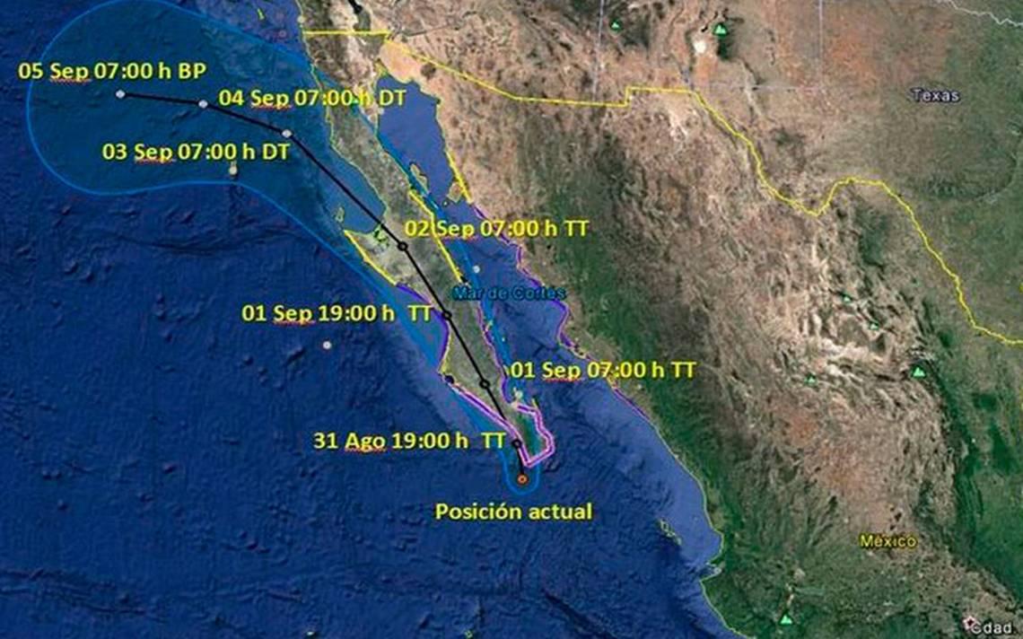Activan Plan MX por Lidia; emiten alerta roja en Baja California Sur