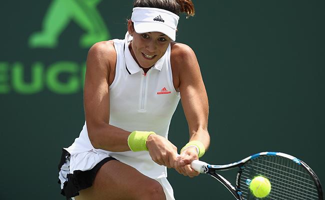 Muguruza derrotó a Zhang en el torneo de Miami