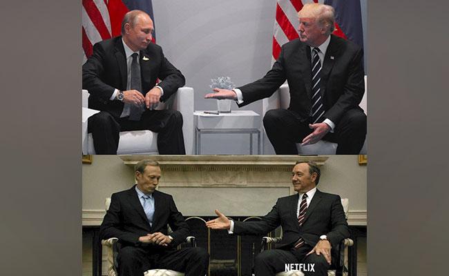 House of Cards se vuelve real en saludo de Trump con Putin