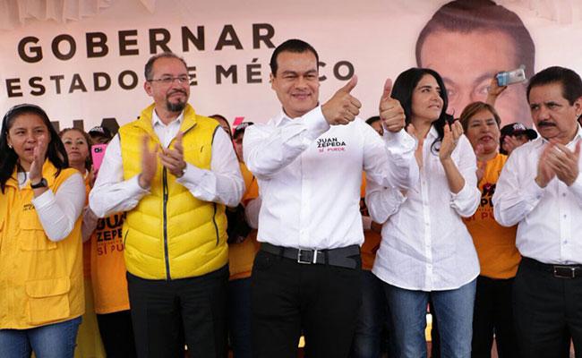 Juan Zepeda toma protesta acompañado de Alejandra Barrales en Neza