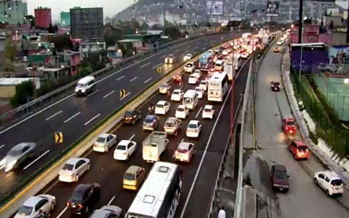 Atropellamiento sobre la México-Pachuca provoca caos vial