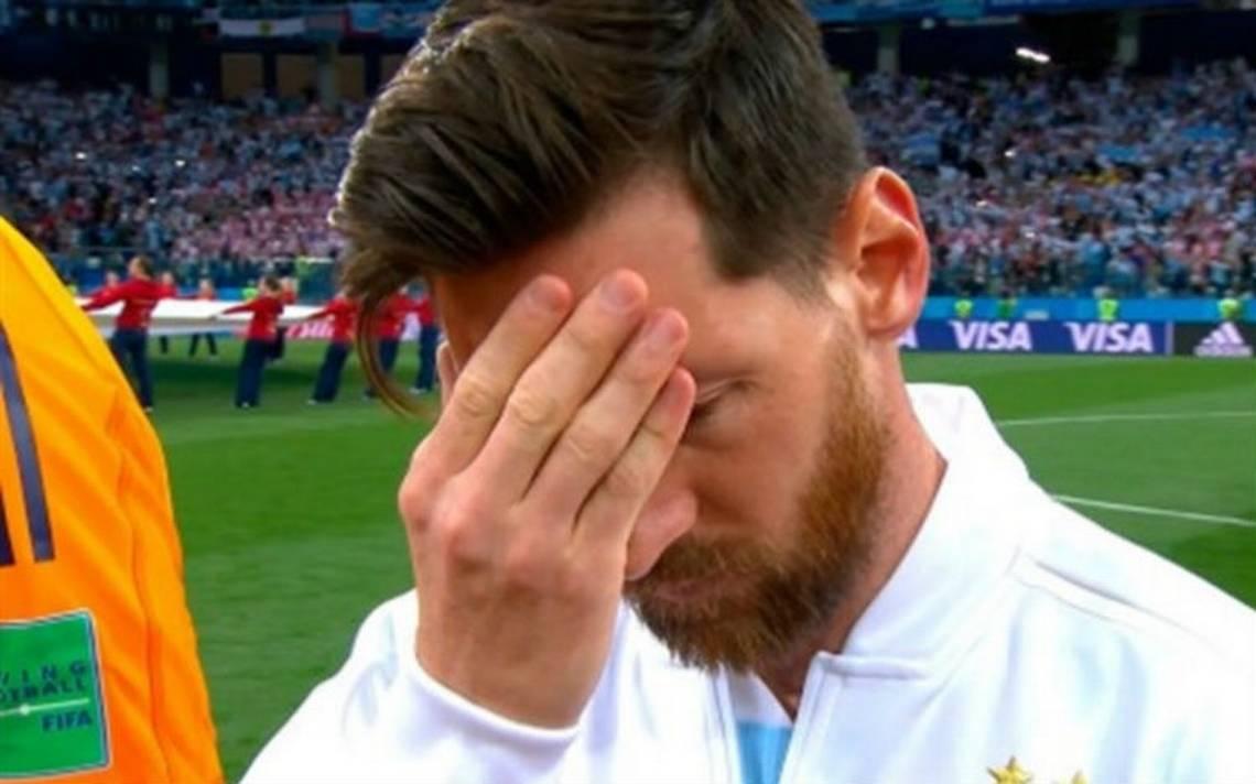 El rostro de Messi ya veía venir la derrota ante Croacia