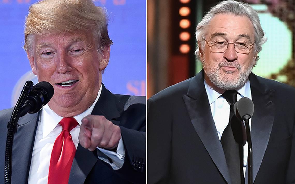 Trump le responde a De Niro: estás atontando por tantos golpes en tus películas