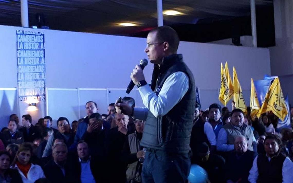 Si alianzas dieron triunfo al PRI, ahora es turno del PAN: Anaya