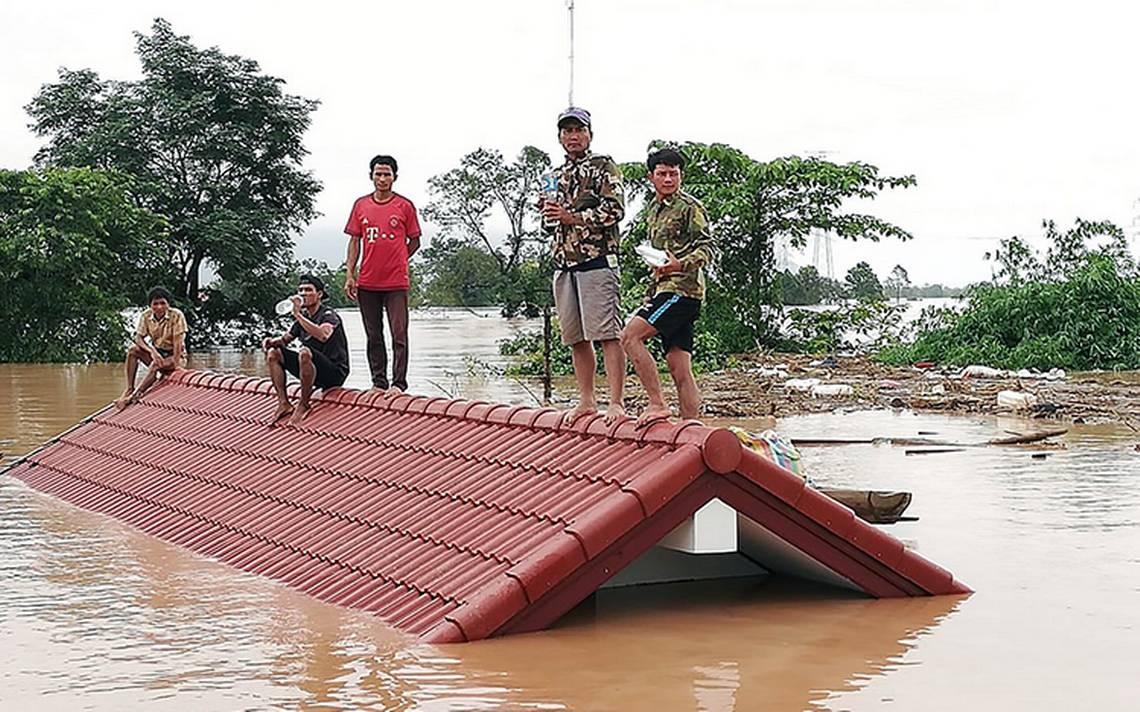 Al menos 19 muertos tras derrumbe de la presa en Laos
