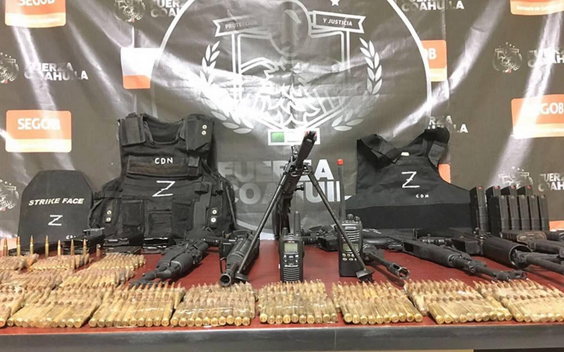 Aseguran arsenal en Acuña, Coahuila