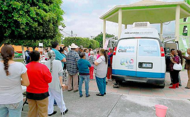 Atendió Registro Civil con unidades móviles a 36 mil guanajuatenses
