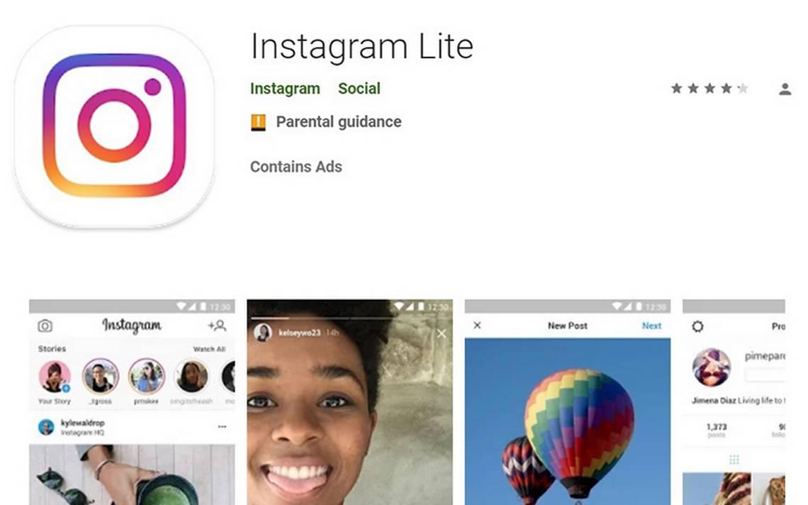 Instagram lanza su app ligera para que no sufras por espacio en tu celular