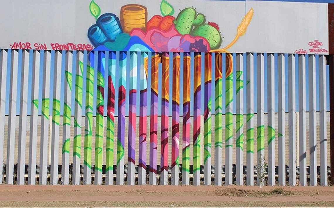 Decoran muro fronterizo