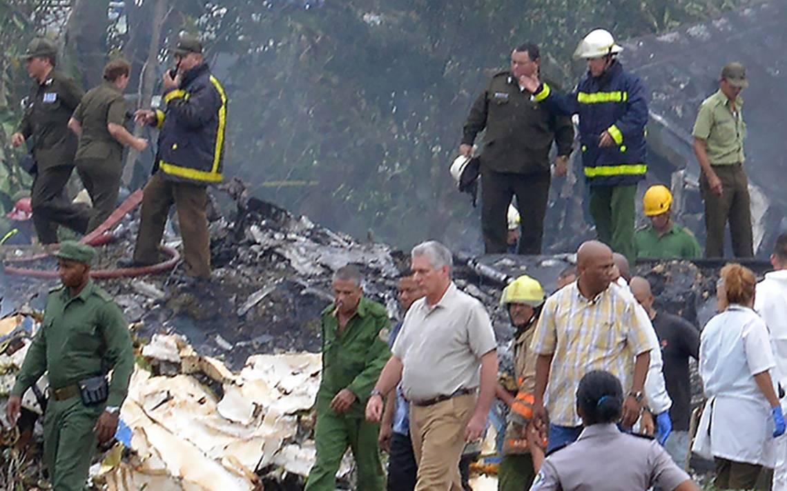 Autoridades cubanas investigan causas de avionazo en La Habana