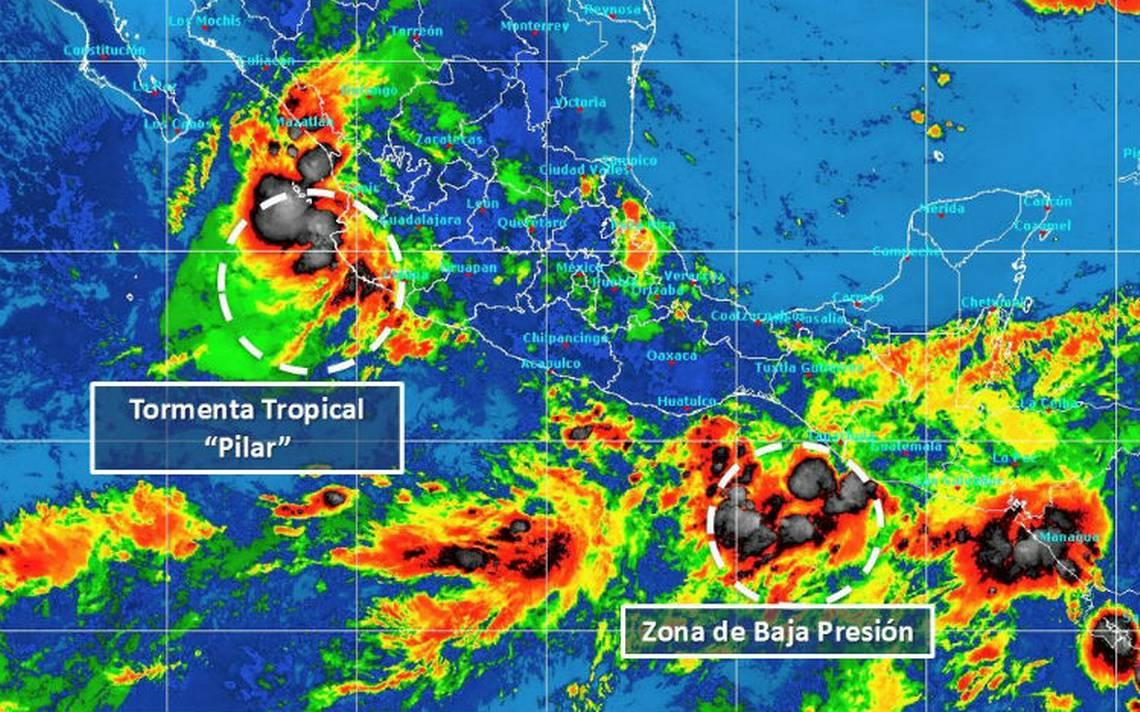Tormenta Pilar y zona de inestabilidad generarán lluvias en el país