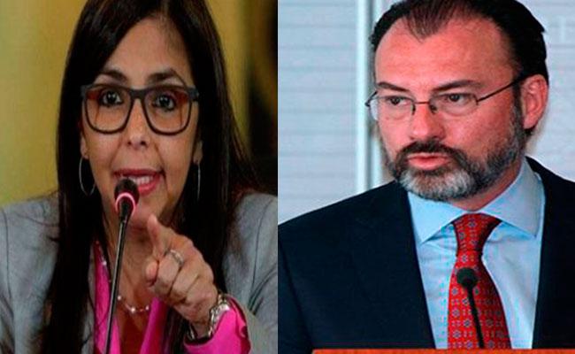 """Videgaray agrede a Venezuela y """"construye muros"""", acusa canciller"""