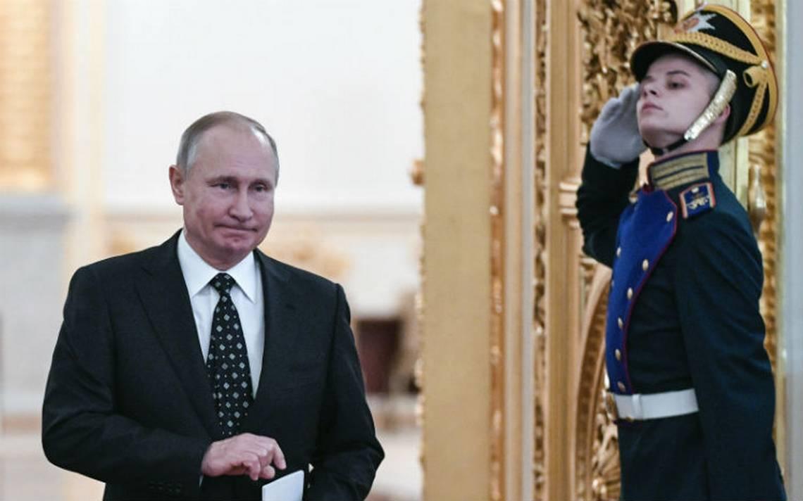 Putin registra su candidatura a la reelección en Rusia
