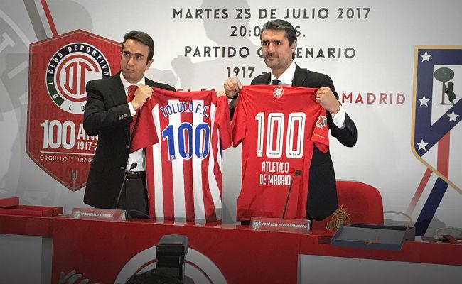 Toluca se medirá al Atlético por su Centenario en el Nemesio Diez