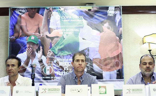 México enfrentará a Paraguay en la Copa Davis