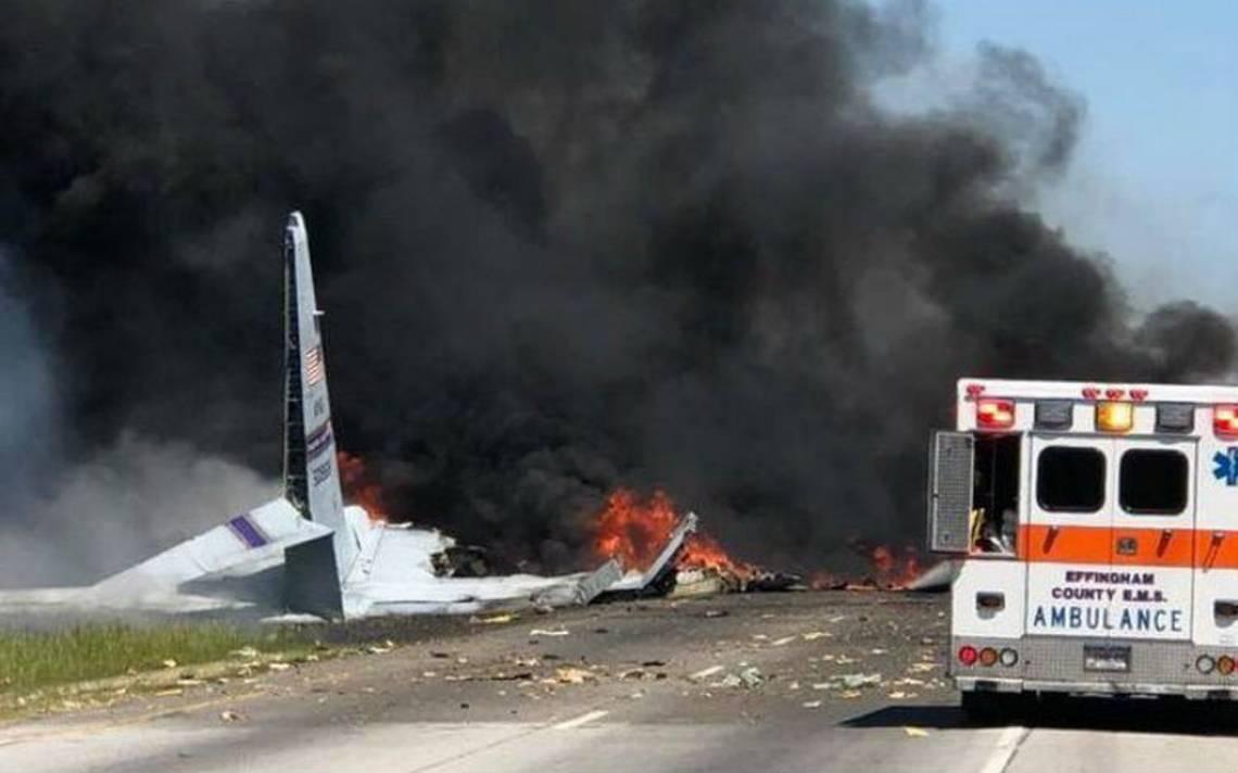 Sube a cinco cifra de muertos al estrellarse aviA?n militar de EU en Georgia
