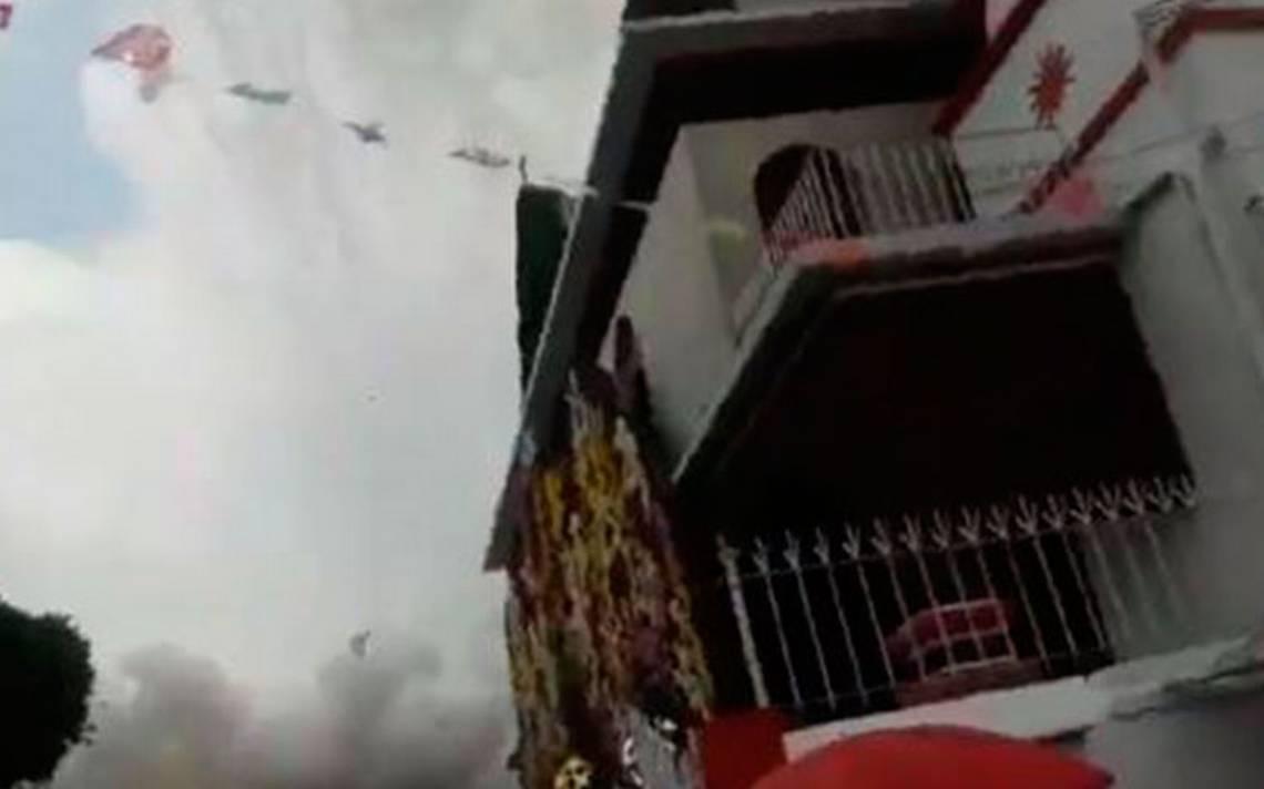 Explosión de pirotecnia en iglesia de Coyoacán deja al menos 4 heridos