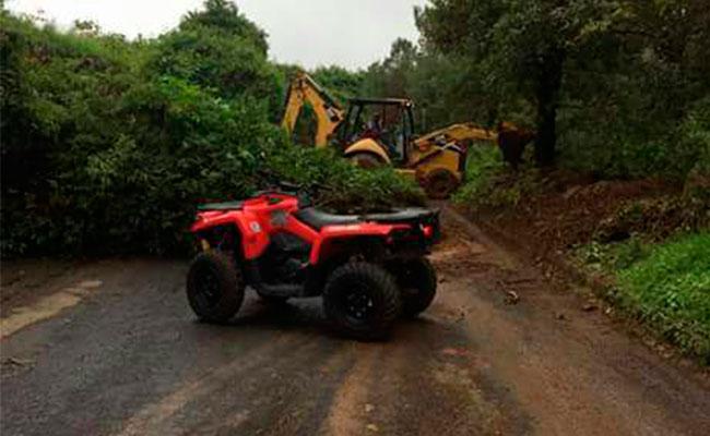 Lluvias provocan desgajamiento de cerro en Edomex