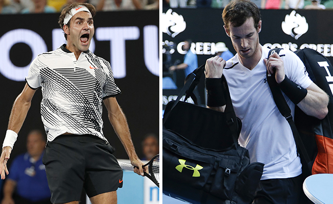 Federer avanza mientras que Murray queda fuera del Abierto de Australia