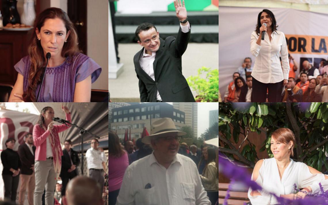 Ellos son los siete candidatos a la Jefatura de Gobierno de la CDMX