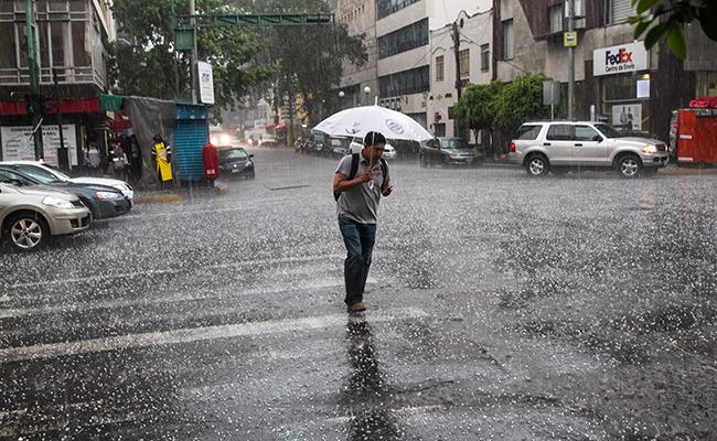 Prevén fin de semana con lluvias y granizadas en la mayor parte del país