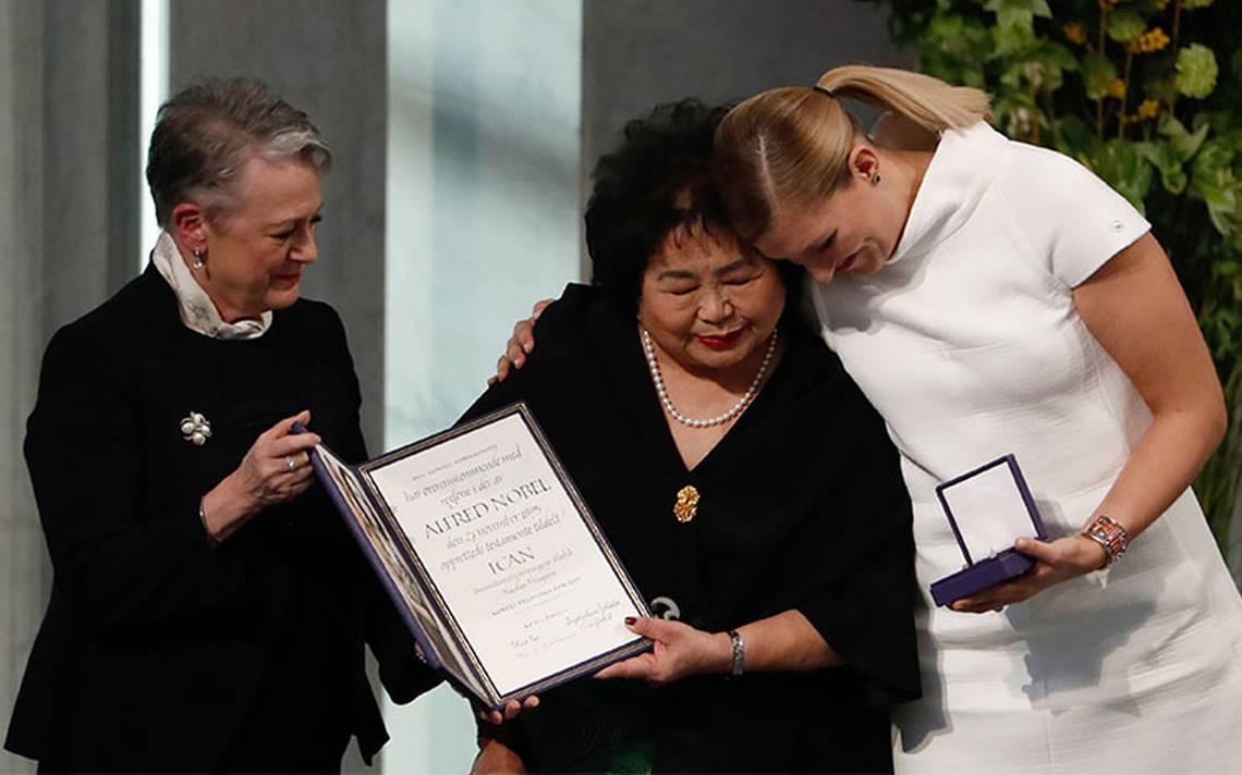 ICAN urge a potencias a prohibir armas nucleares al recibir Nobel de Paz