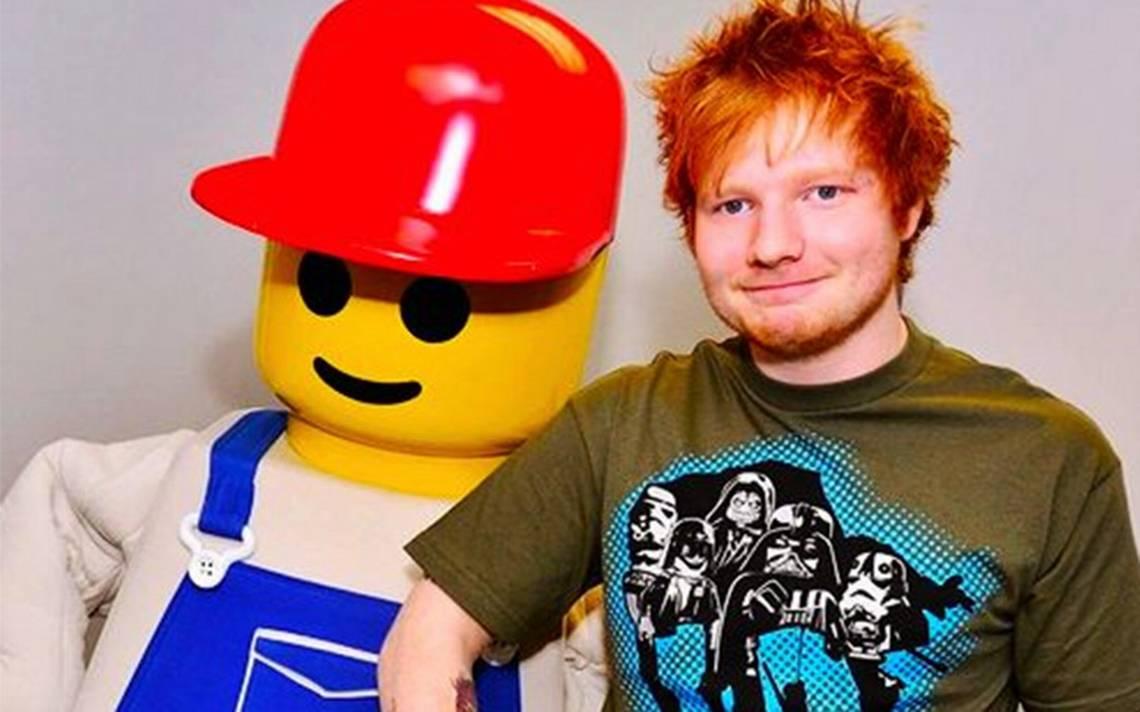 ¡Así luce la cabeza de Ed Sheeran hecha con Lego! El cantante recaudará fondos con ella