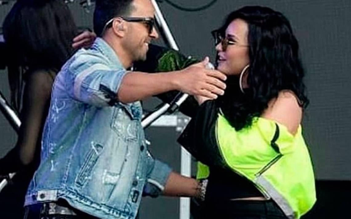 """Te abrazo a la distancia"", el emotivo mensaje de Luis Fonsi para Demi Lovato"
