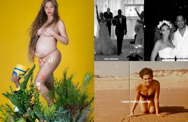 Las fotos íntimas de Beyoncé, su embarazo y familia