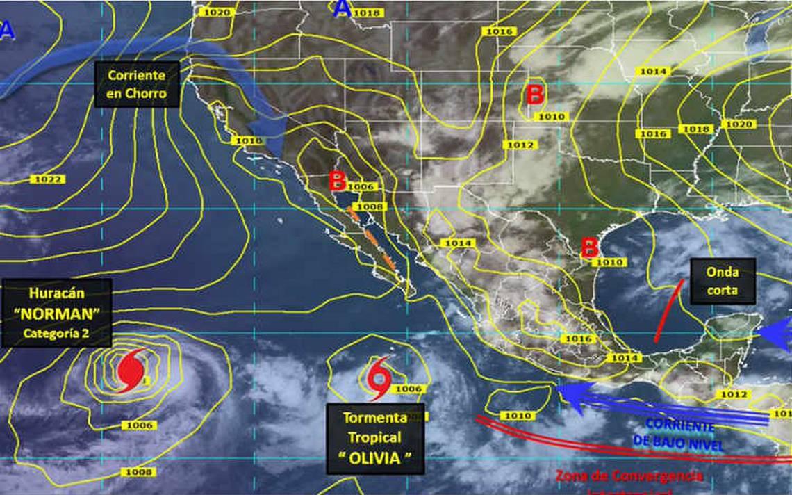 Depresión tropical se convierte en tormenta tropical Olivia al sur de Baja California