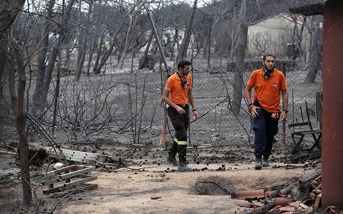 Sube a 86 la cifra de muertos en Grecia por incendios