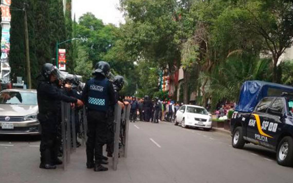 [Video] Desalojo en la colonia Juárez termina en enfrentamiento