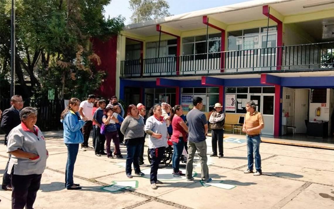 Realizan simulacros de incendio en escuelas capitalinas