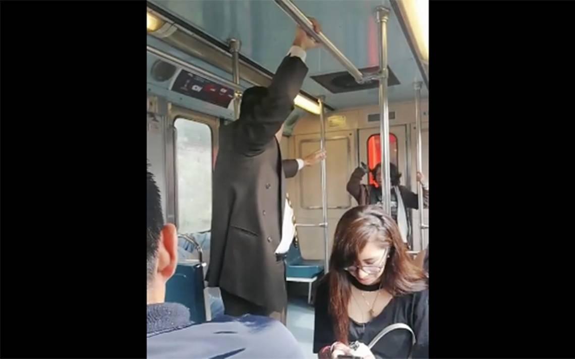 [Video] Exorcizan a una mujer en pleno vagón del metro