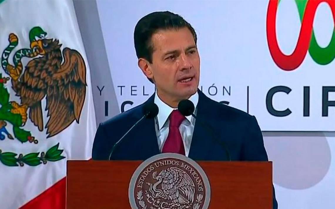 Es inaceptable la intolerancia en la democracia de MA�xico: PeA�a Nieto
