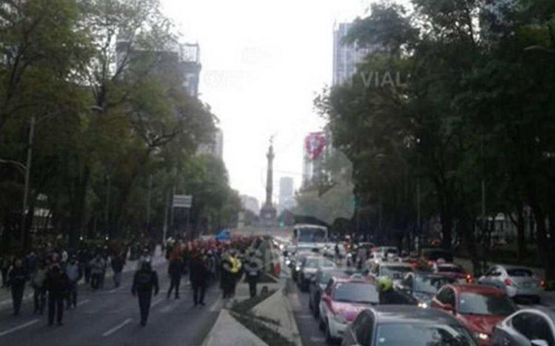 Caos en Paseo de la Reforma por marcha de campesinos