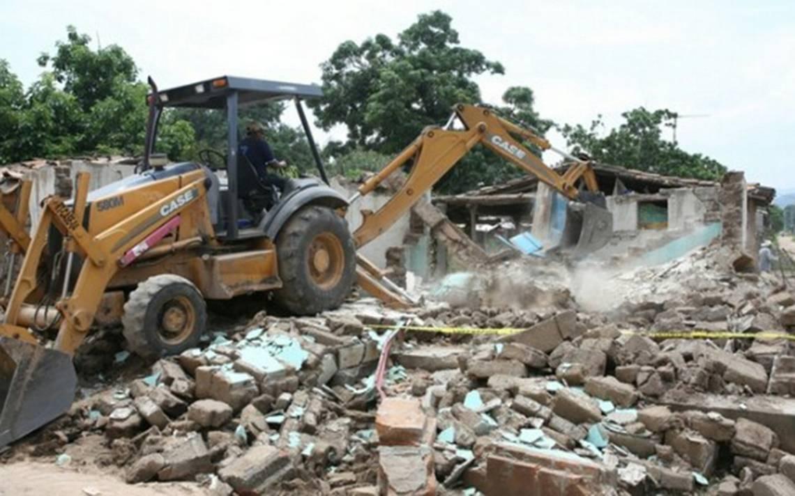 Demolerán en Chiapas más de 5 mil viviendas
