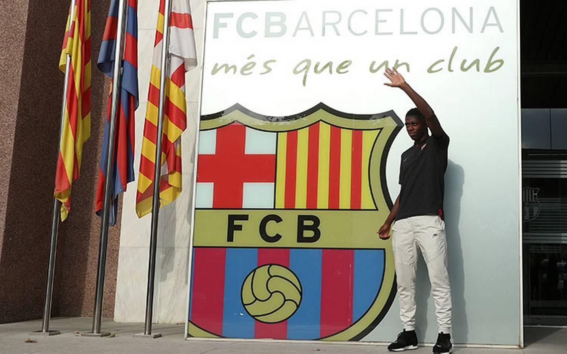 Dembélé cumple su sueño de niño al fichar con Barcelona