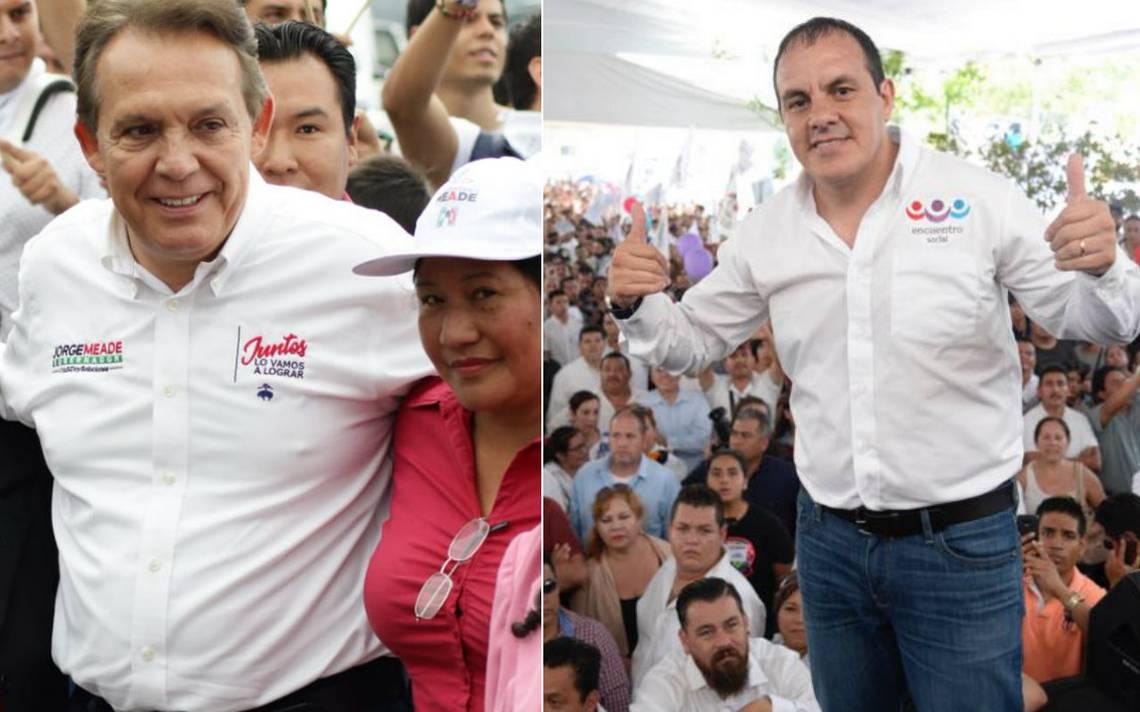 Jorge Meade y CuauhtA�moc Blanco arrancan campaA�a por gubernatura de Morelos