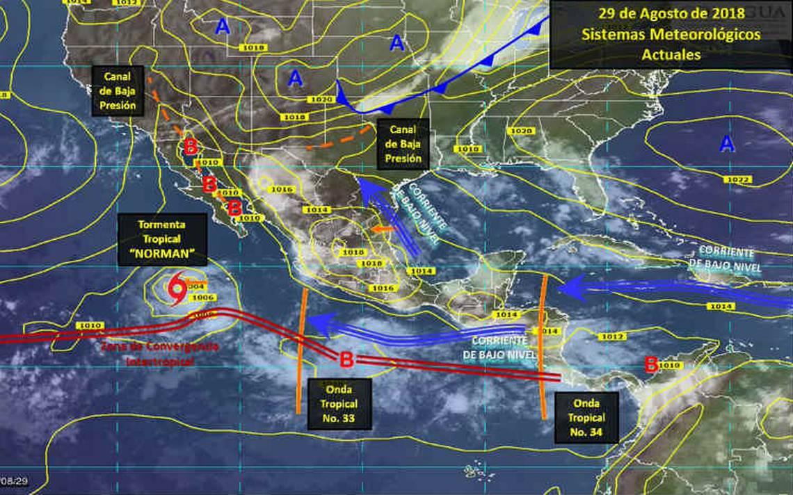 Se genera la tormenta tropical Norman al suroeste de Baja California
