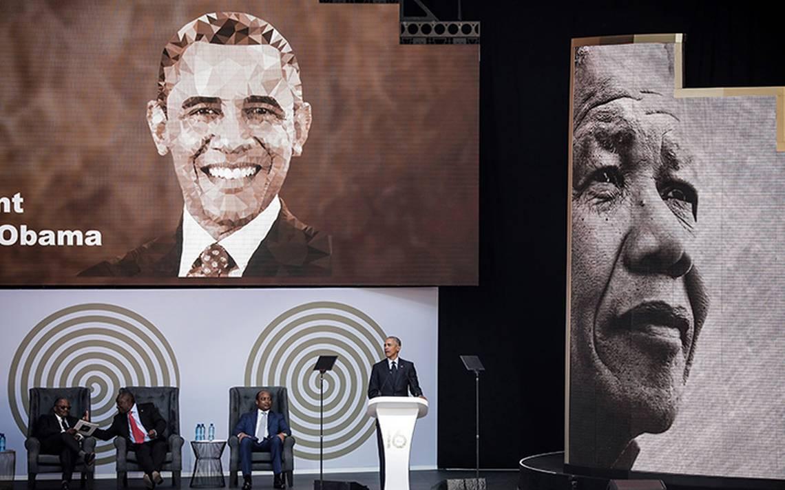 Obama pronuncia discurso en conmemoración del centenario de Mandela